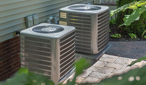 Image of 2 Air Conditioners outside of home