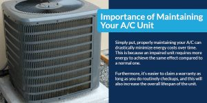 Important of maintaining your A/C Unit | The Energy Centre