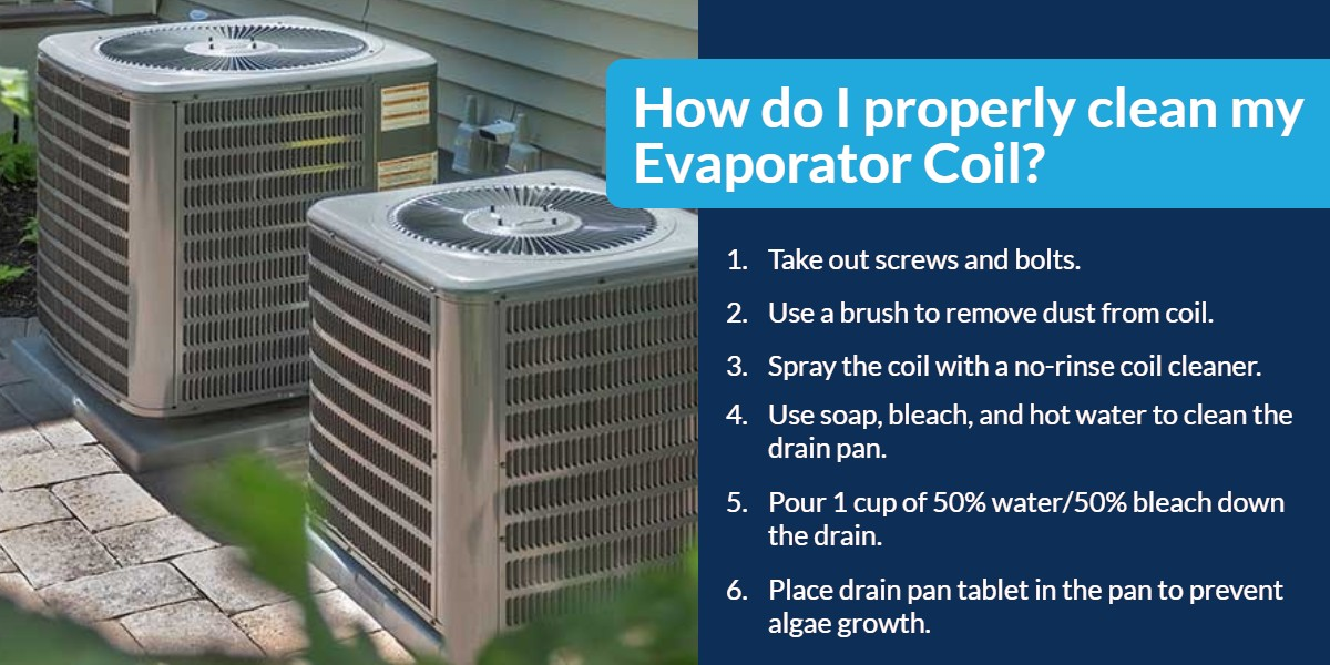 How do i properly clean my Evaporator Coil? | The Energy Centre