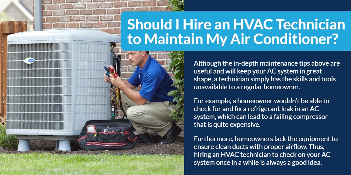 Should I hire an HVAC Technician to maintain my Air Conditioner | The Energy Centre