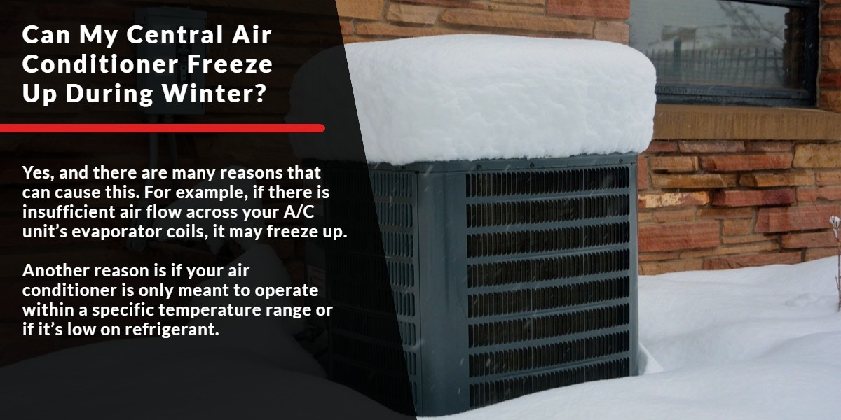 Can my Central Air Conditioner freeze up during winter? | Energy Centre