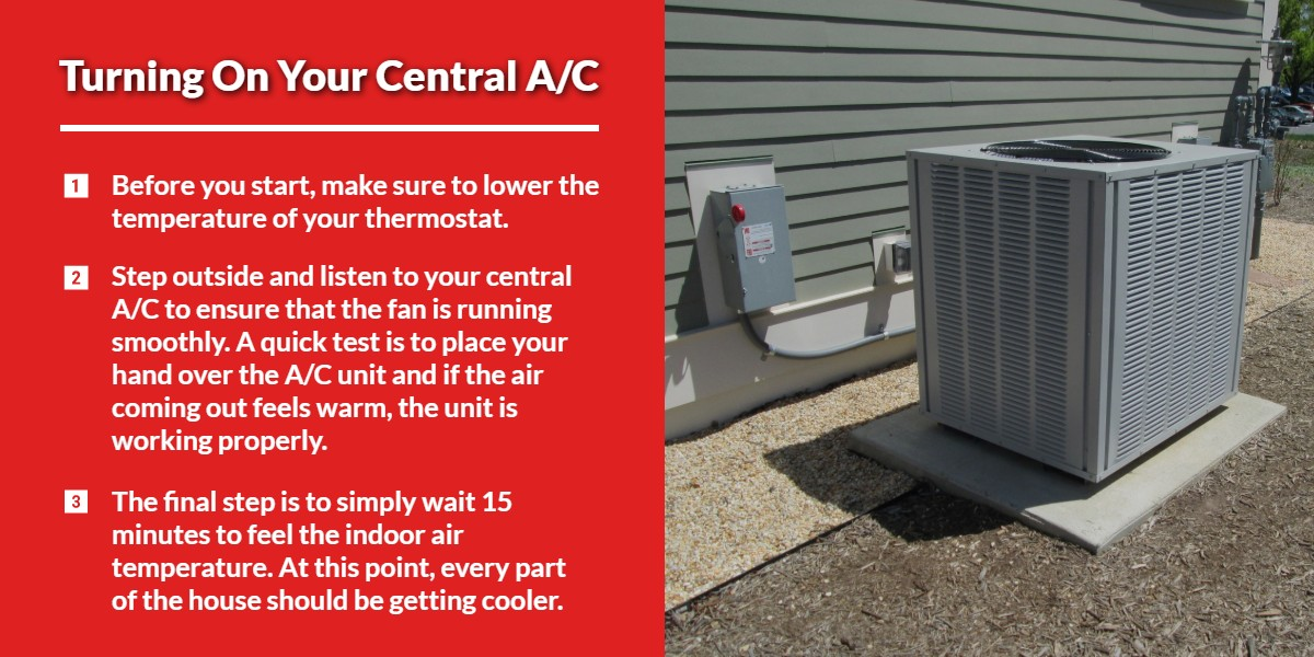 Turning on your central A/C | Energy Centre